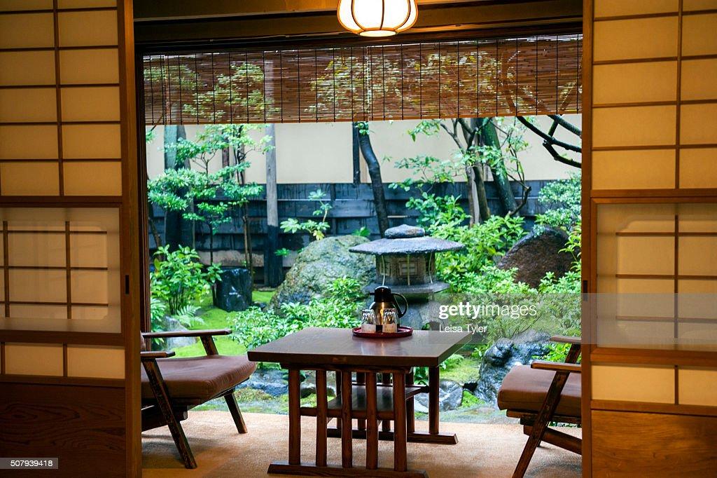 A bedroom in Hiiragiya ryokan, a small traditional Japanese... : News Photo
