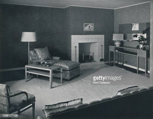 Bedroom in the house of Mr Anatole Litvak in Saint Monica California' USA 1942 Architects Douglas Honnold and George Vernon Russell Home of film...