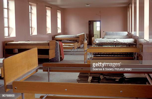 Bedroom inside Woking Railway orphanage Surrey by Chris Hogg 1988 The orphanage was founded in 1885 by Canon Allen Edwards to care for the orphaned...