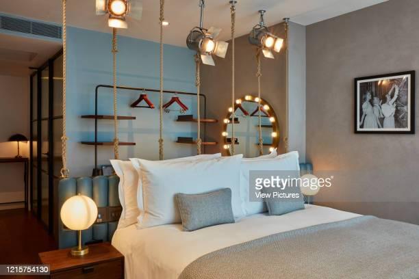 Bedroom interior Indigo Hotel Leicester Square London United Kingdom Architect Michaelis Boyd Associates Ltd 2018
