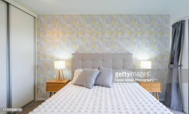bedroom interior. - nazar abbas photography stock pictures, royalty-free photos & images