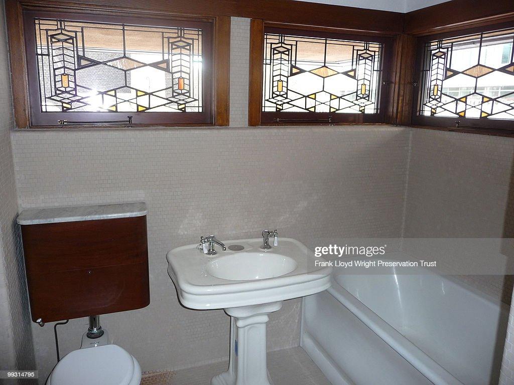 Frederick Robie House Bedroom Level Bathroom Restoration Pictures - Bathroom fixtures chicago