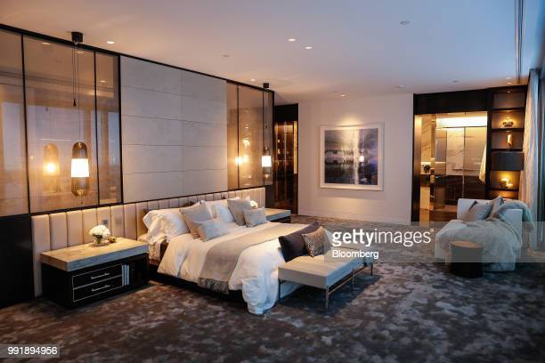 A bedroom of a Crown Resorts Ltd mockup apartment is seen in Sydney Australia on Wednesday July 4 2018 Crown Resorts is widening its hunt for buyers...