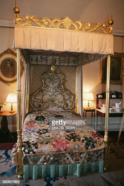 Bedroom of Elizabeth BowesLyon wife of King George VI and mother of Queen Elizabeth II Glamis Castle Angus Scotland United Kingdom