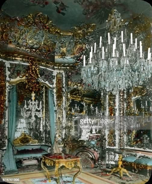 Bedroom of king Louis II at Linderhof castle at Ettal in Bavaria