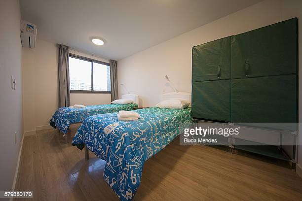 A bedroom of one of the units within the Olympic and Paralympic Village for the 2016 Rio Olympic Games The Village will host up to 17200 people...