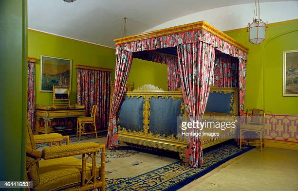 Bedroom Royal Pavilion Brighton East Sussex 1960s The Pavilion was originally built in 17861787 by Henry Holland for King George IV then Prince...