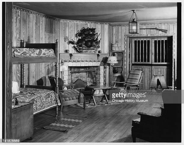Bedroom Setting at Marshall Field & Company, Chicago, Illinois, early to mid 1930s.