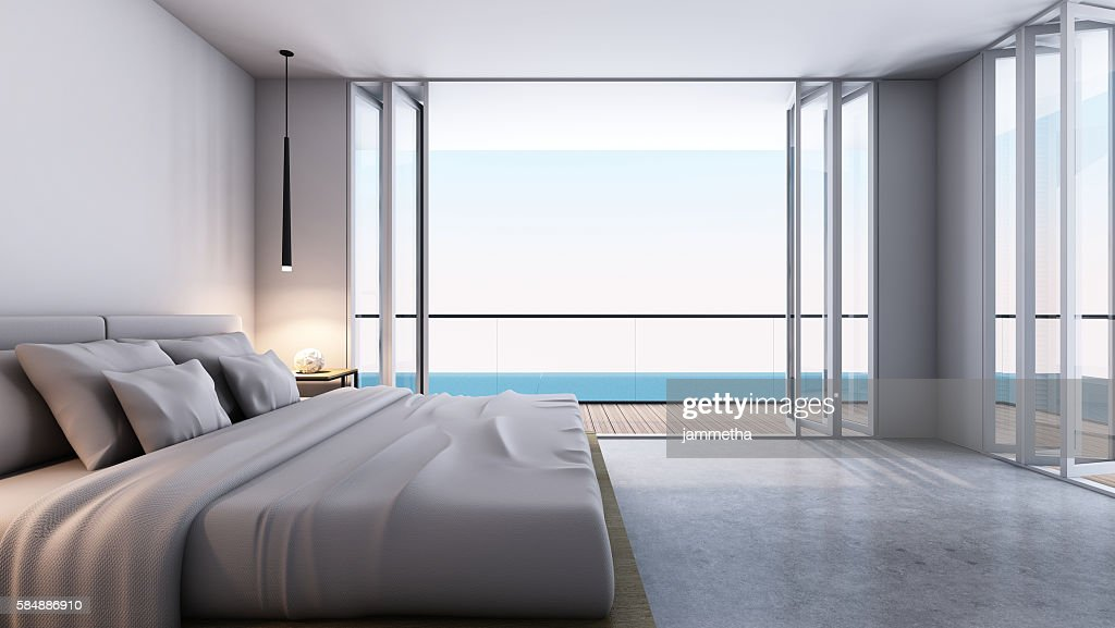 Bedroom Take Sea View 3d Render Stock Photo Getty Images