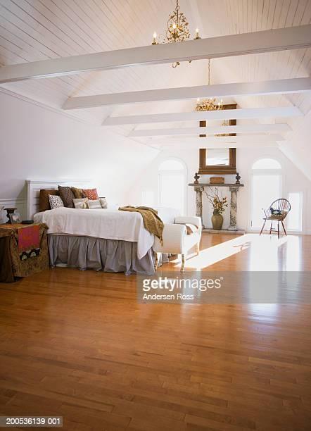 Bedroom with hardwood floor