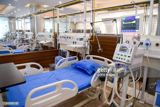 Beds are ready for covid-19 patients treatment at the Bangabandhu Sheikh Mujib Medical University in Dhaka. A 1,000-bed field hospital for treating...