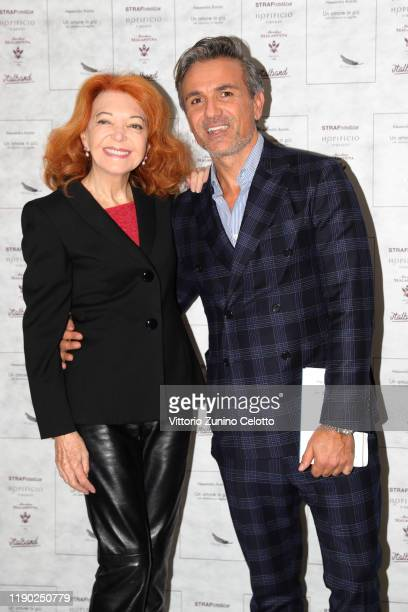 Bedy Moratti and Alessandro Romito attend the presentation of the book Un Amore In Più by on November 26 2019 in Milan Italy