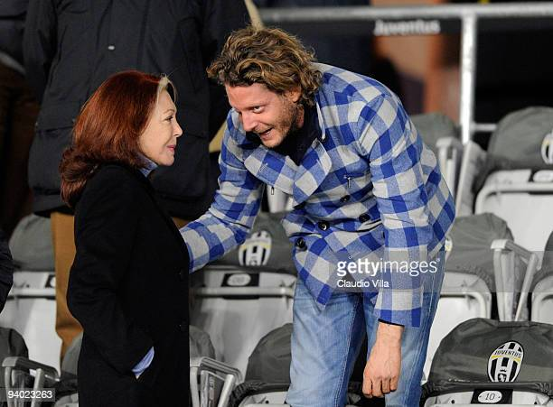 Bedy Moratti and Lapo Elkann during the Serie A match between Juventus and Inter Milan at Stadio Olimpico on December 5 2009 in Turin Italy