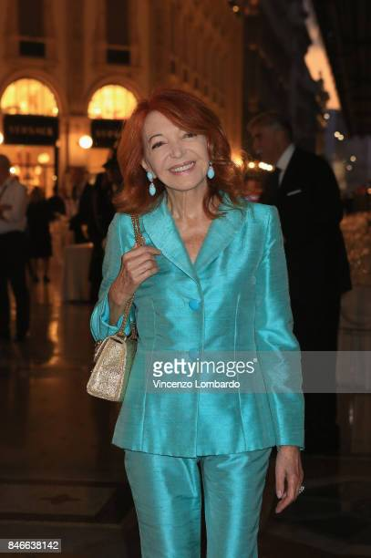 Bedy Moratti attends charity dinner for Galleria Vittorio Emanuele 150th Anniversary on September 13 2017 in Milan Italy