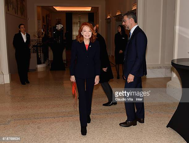 Bedy Moratti attends FC Internazionale Shareholder's Meeting on October 28 2016 in Milan Italy