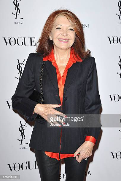 Bedy Moratti attends 'Yves Saint Laurent' Premiere on March 17 2014 in Milan Italy