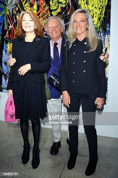 Bedy Moratti Renato Cardi and Anna Cardi attend Cardi Black Box Gallery Present Nicolas Pol hosted by Nicolo Cardi And Vladimir Restoin Roitfeld at...