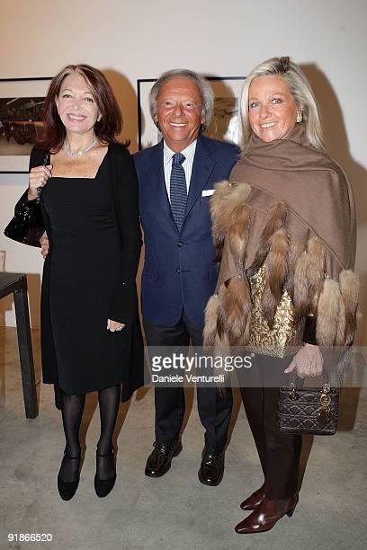 Bedy Moratti Renato Cardi and Anna Cardi attend the Cardi Black Box Dinner on October 13 2009 in Milan Italy