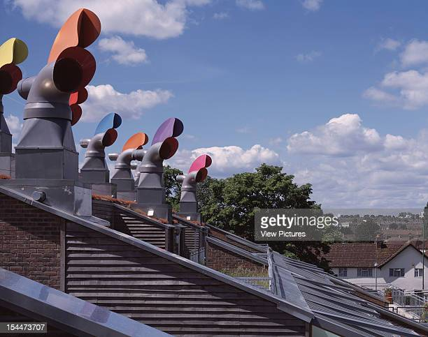 Bedzed [Beddington Zero Energy Development] Sutton United Kingdom Architect Bill Dunster Architects Bedzed Sky Gardens Wind Driven Ventilation Cowls...