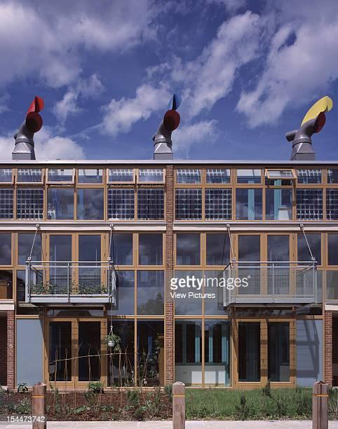 Bedzed [Beddington Zero Energy Development] Sutton United Kingdom Architect Bill Dunster Architects Bedzed 3 Storey Houses On Elevation