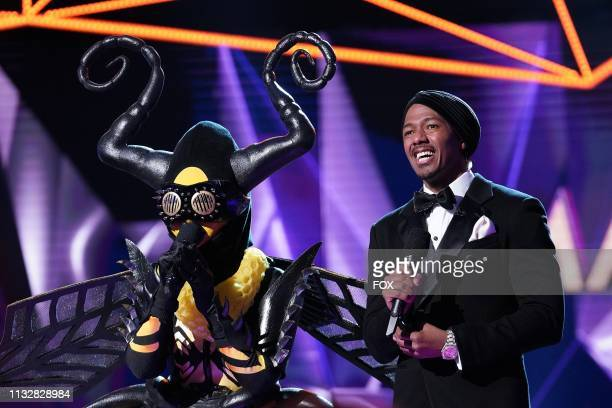 Bee and host Nick Cannon in the special twohour Road to the Finals / Season Finale The Final Mask is Lifted season finale episode of THE MASKED...