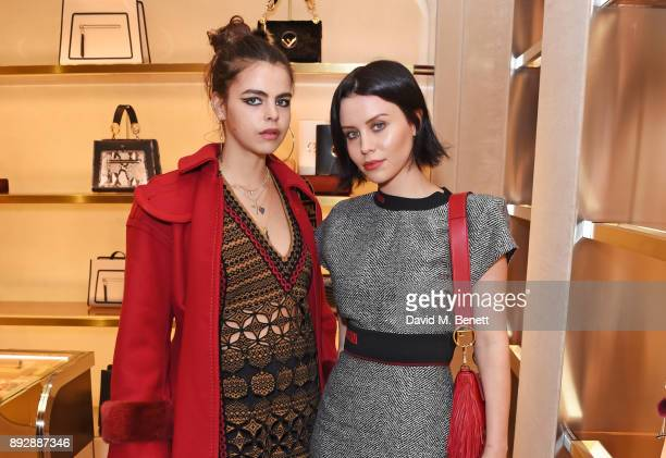 Bee Beardsworth and Billie JD Porter attend the FENDI Sloane Street boutique opening on December 14 2017 in London England