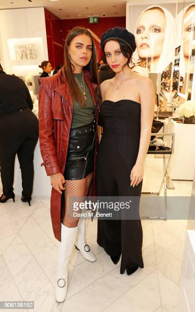 Bee Beardsworth and Billie JD Porter attend the NARS Kings Road Opening Party on January 17 2018 in London United Kingdom