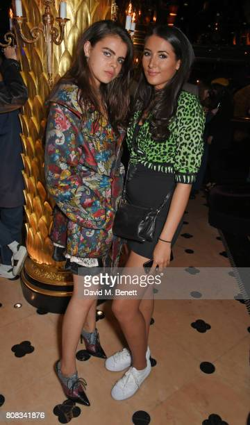 Bee Beardsworth and Cora Corre attend the Rockins party to celebrate the Rockins Selfridges PopUp Shop at Park Chinois supported by Ciroc on July 4...