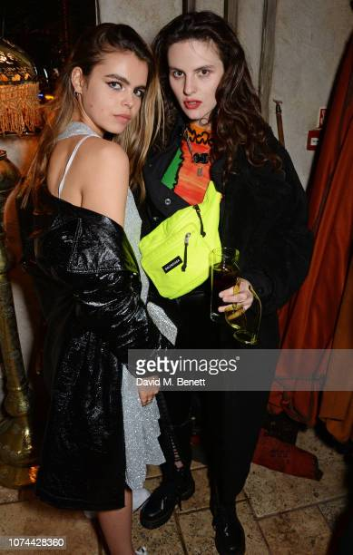 Bee Beardsworth and Daisy Maybe attend the Aamo x Fashion East party at Momo on December 19 2018 in London England