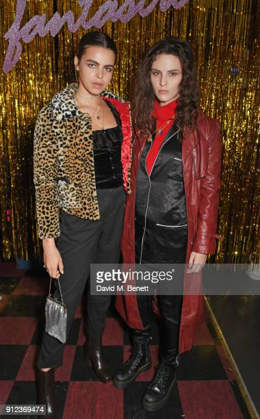 Bee Beardsworth and Daisy Maybe attend the ALEXACHUNG Fantastic collection party on January 30 2018 in London England