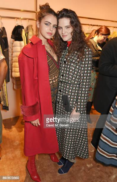 Bee Beardsworth and Daisy Maybe attend the FENDI Sloane Street boutique opening on December 14 2017 in London England