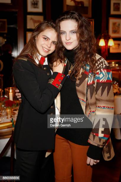 Bee Beardsworth and Daisy Maybe attend the Polo Bear Holiday Dinner hosted by Polo Ralph Lauren and Alexandra Richards at RalphÕs Coffee Bar on...