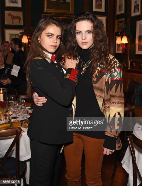 Bee Beardsworth and Daisy Maybe attend the Polo Bear Holiday Dinner hosted by Polo Ralph Lauren and Alexandra Richards at Ralph's Coffee Bar on...