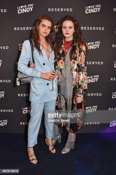 Bee Beardsworth and Daisy Maybe attend the Reserved iLoveYouCindy campaign launch event at Kachette on March 16 2018 in London England