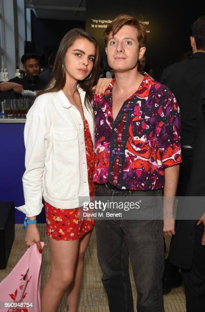 Bee Beardsworth and Dominic Jones attend adidas 'Prouder' A Fat Tony Project in aid of the Albert Kennedy Trust supporting LGBT youth at Heni Gallery...