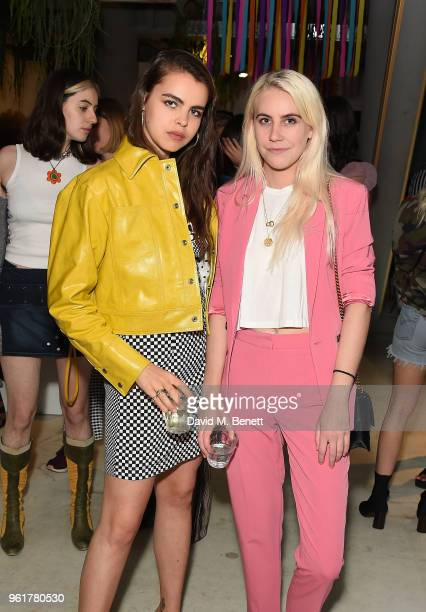 Bee Beardsworth and India Rose James attend Lulu Guinness x Kodak Party on May 23 2018 in London England