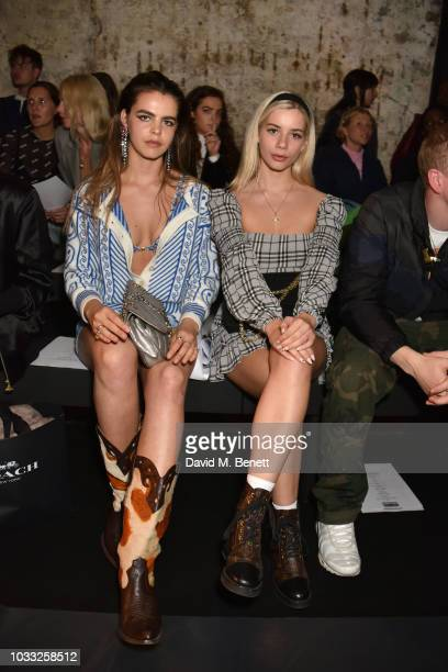 Bee Beardsworth and Joanna Kuchta attend the Ashley Williams front row during London Fashion Week September 2018 at House of Vans on September 14...