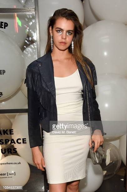 Bee Beardsworth attends the Izzue x Ponystep London Fashion Week party at Mare Street Market on September 16 2018 in London England