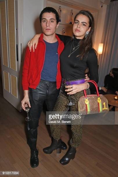 Bee Beardsworth attends the launch of Teresa Tarmey's new 'at home facial system' at Mortimer House sponsored by CIROC on January 25 2018 in London...