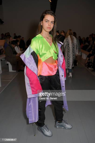 Bee Beardsworth attends the Marta Jakubowski show during London Fashion Week February 2019 at BFC Show Space on February 15 2019 in London England