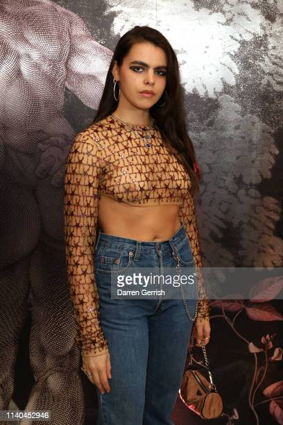 Bee Beardsworth attends the Pat McGrath 'A Technicolour Odyssey' Campaign launch party at Brasserie of Light Selfridges on April 04 2019 in London...