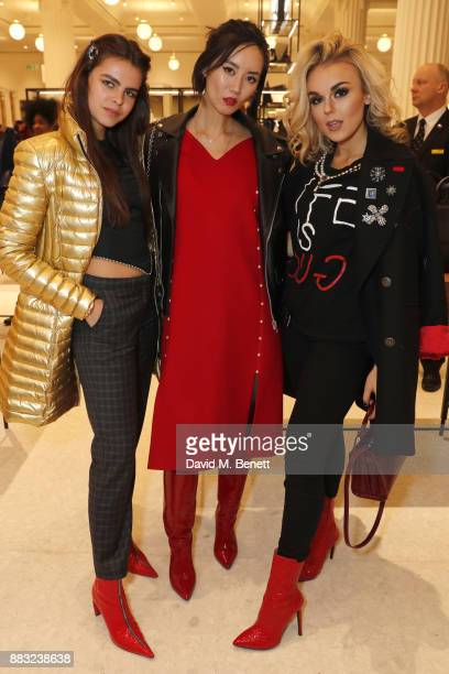 Bee Beardsworth Betty Bachz and Tallia Storm attend the relaunch of the Selfridges Accessories Hall hosted by Vogue at Selfridges on November 30 2017...