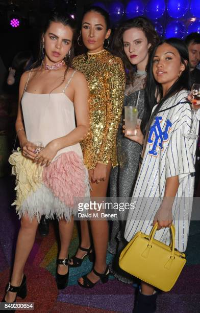 Bee Beardsworth Cora Corre Daisy Maybe and Mabel McVey attend the LOVE magazine x Miu Miu party held during London Fashion Week in association with...