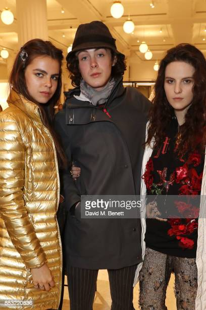 Bee Beardsworth Sonny Hall and Daisy Maybe attend the relaunch of the Selfridges Accessories Hall hosted by Vogue at Selfridges on November 30 2017...