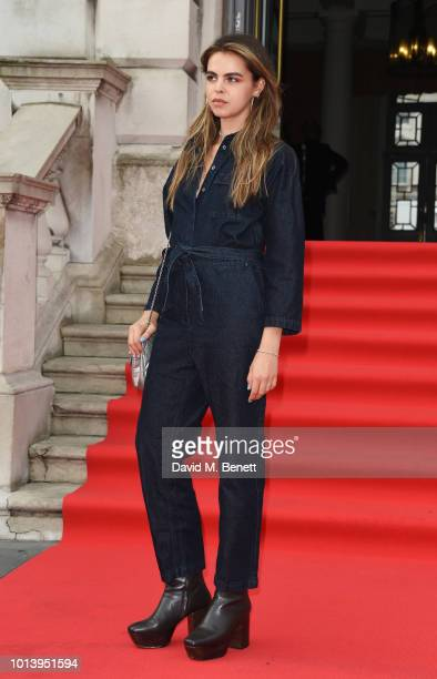 Bee Beardsworth walks the red carpet at Somerset House to celebrate the opening of Film4 Summer Screen at Somerset House on August 2018 in London...