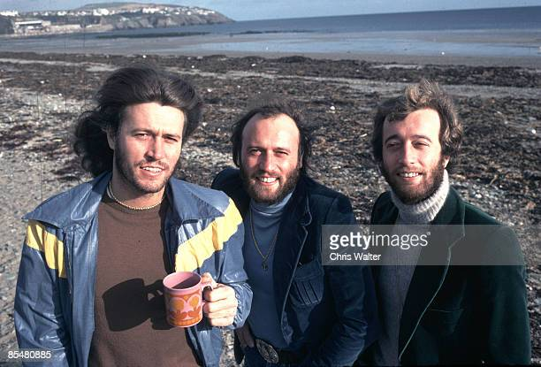 Bee Gees 1976 Barry Gibb Maurice Gibb Robin Gibb on Isle Of Man
