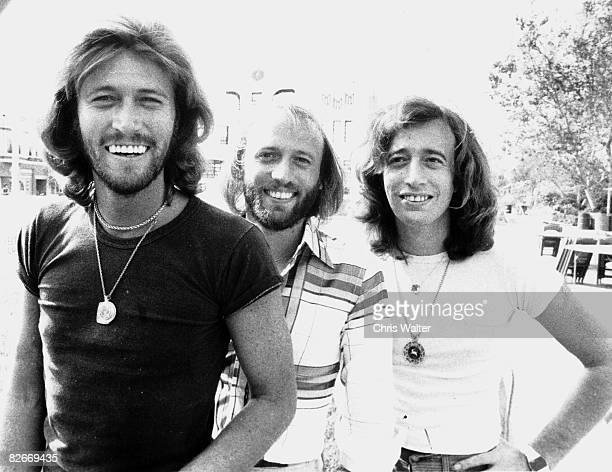 Bee Gees 1978 Barry Gibb Maurice Gibb Robin Gibb on Sgt Pepper set