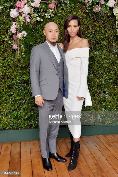 """Bee Nguyen and Tylynn Nguyen attend Claiborne Swanson Frank """"Mother and Child"""" Launch Event By Cle de Peau Beaute and Carolina Herrera at Hotel Bel..."""