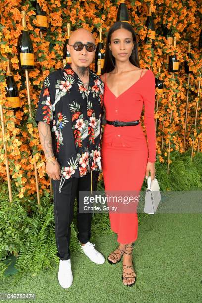 Bee Nguyen and TyLynn Nguyen attend the Ninth-Annual Veuve Clicquot Polo Classic Los Angeles at Will Rogers State Historic Park on October 6, 2018 in...
