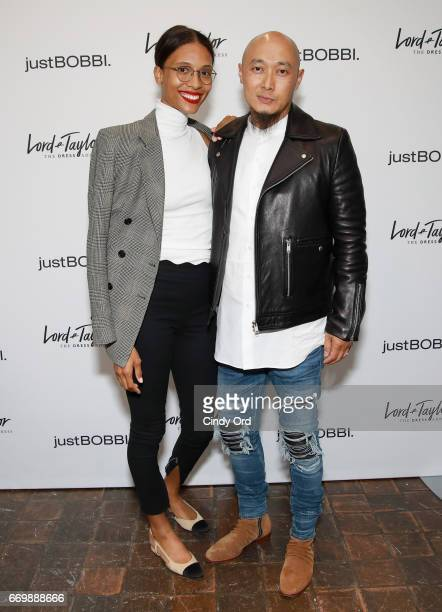 Bee Nguyen and TyLynn Nguyen attends as Lord & Taylor and Bobbi Brown celebrate the launch of the justBOBBI concept shop on April 17, 2017 in New...